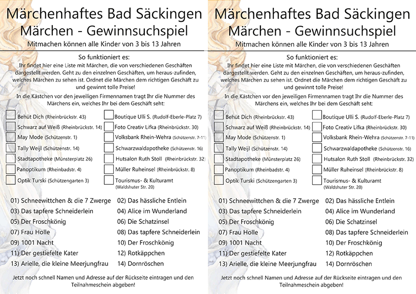 "<a href=""https://www.pro-badsaeckingen.de/wp-content/uploads/2019/10/Teilnahmeschein-Front-2019.pdf"" target=""_blank"" title=""Flyer"" rel=""noopener noreferrer"">Download Flyer</a>"